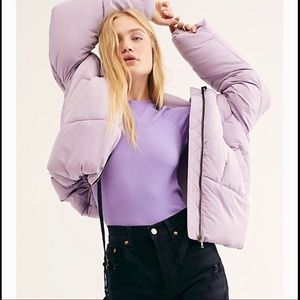 Free People Hailey Puffer Coat S